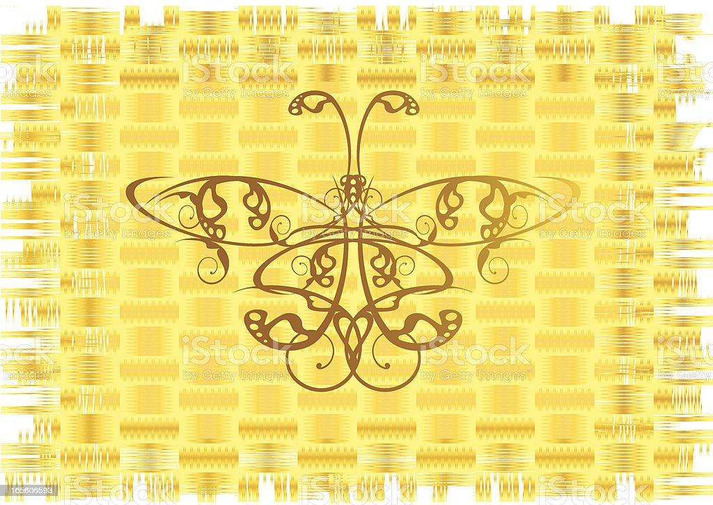 butterfly on the papyrus vector art illustration