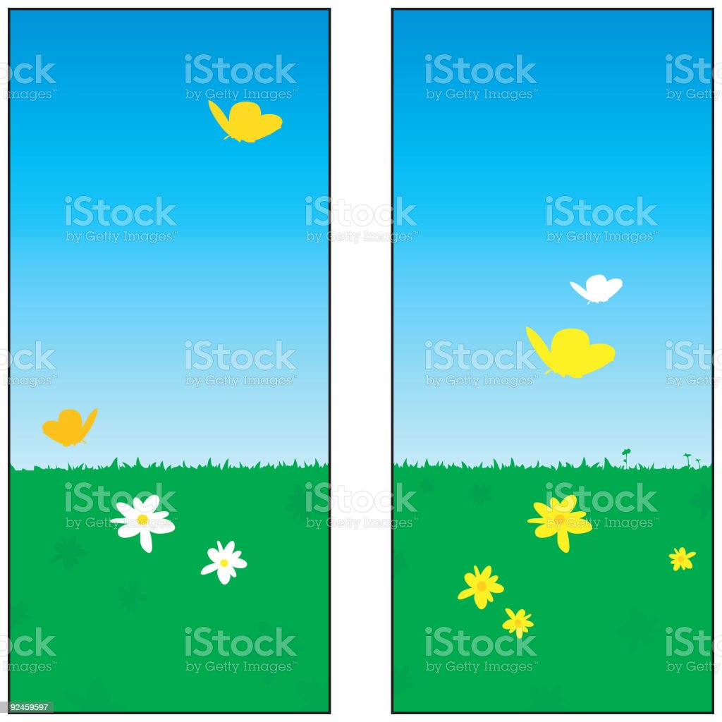 Butterfly Panel royalty-free stock vector art