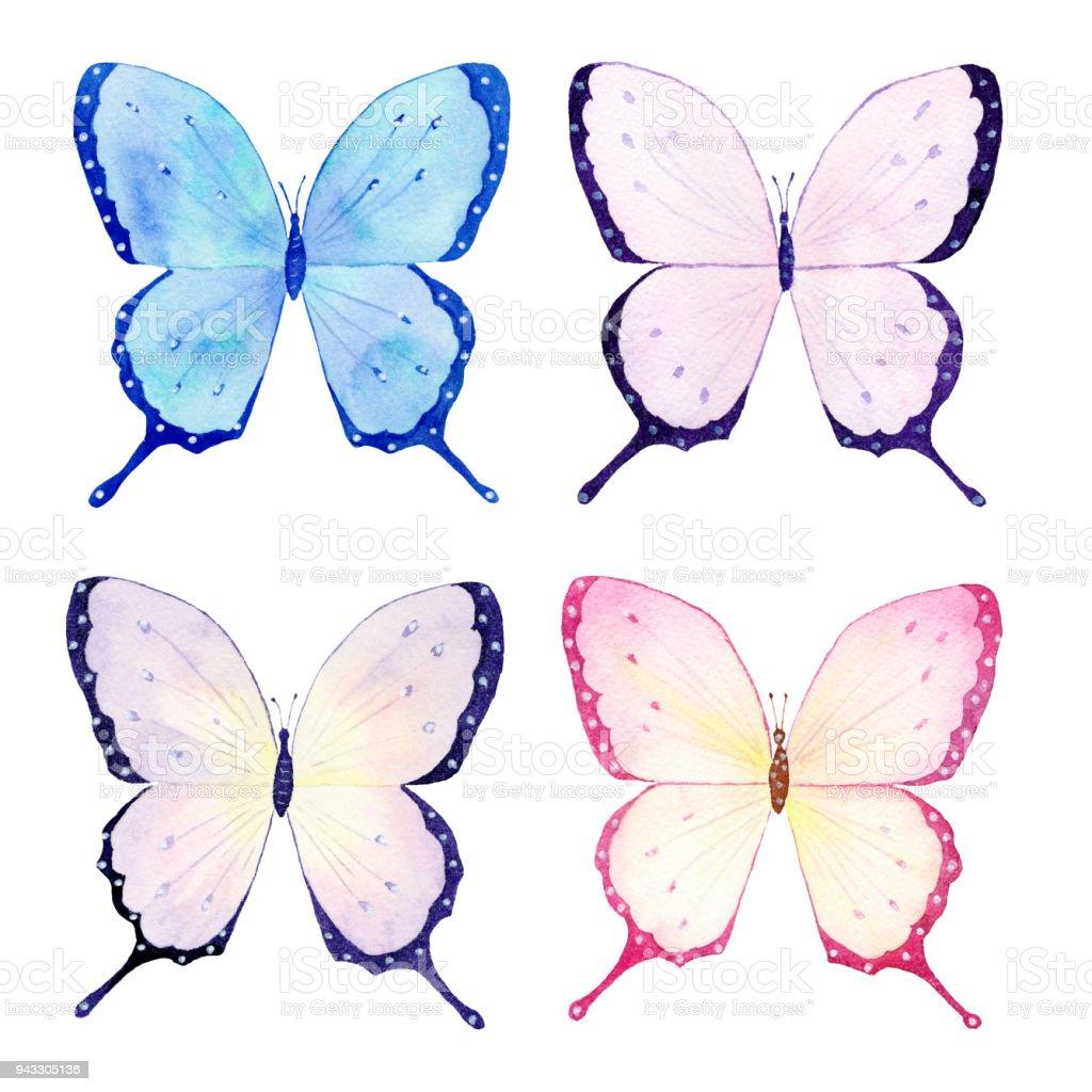 Kelebek Suluboya Koleksiyonu El Yapimi Kroki Tebrik Kartlari Dugun