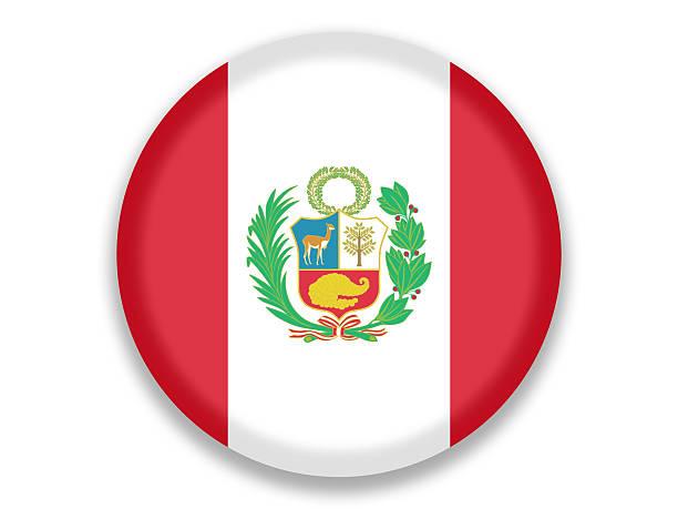Botón bandera nacional de Perú - ilustración de arte vectorial