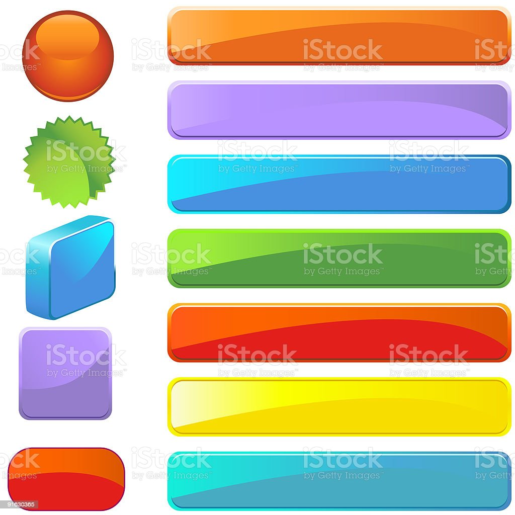 Button Shapes Set royalty-free stock vector art