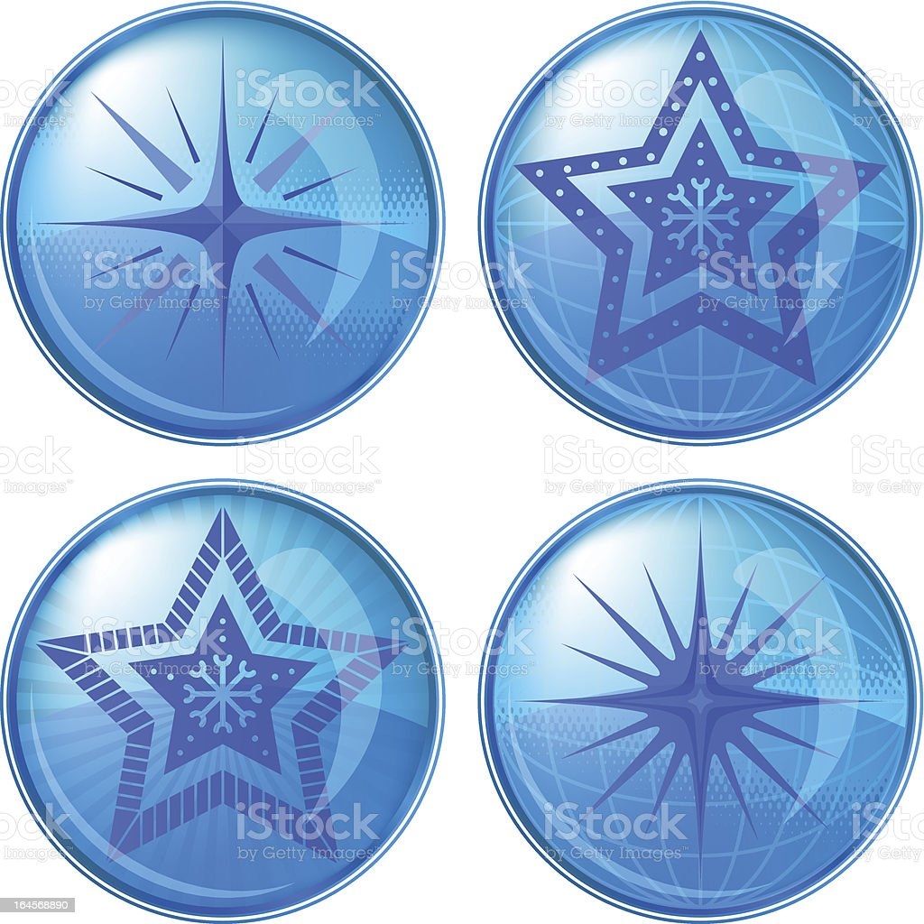 Buttons, stars royalty-free stock vector art