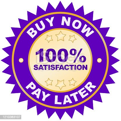 istock Buy Now Pay Later product label or badge or sticker image isolated on white background 1210383107