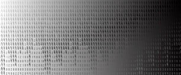 通過網路運行的二進位代碼位元組數向量藝術插圖