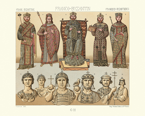Byzantine and Franks,  Eastern Emperors and Empresses, Ceremonial and indoor costumes, History of Fashion