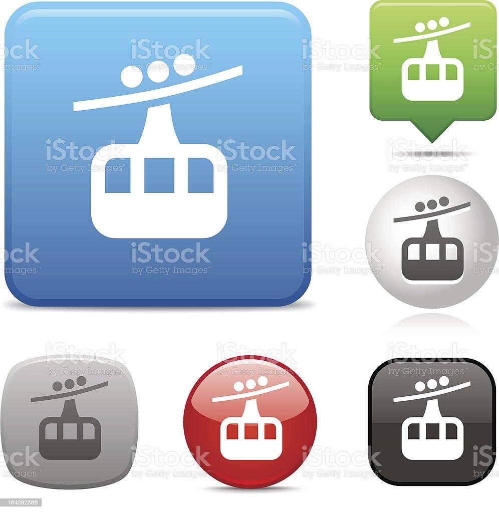 Cable Railway icon vector art illustration