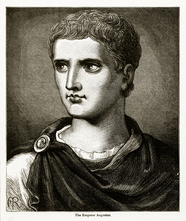 Caesar Augustus Roman Emperor Engraving
