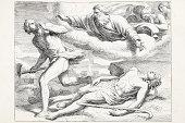 istock Cain killing Abel punished by god 176665326