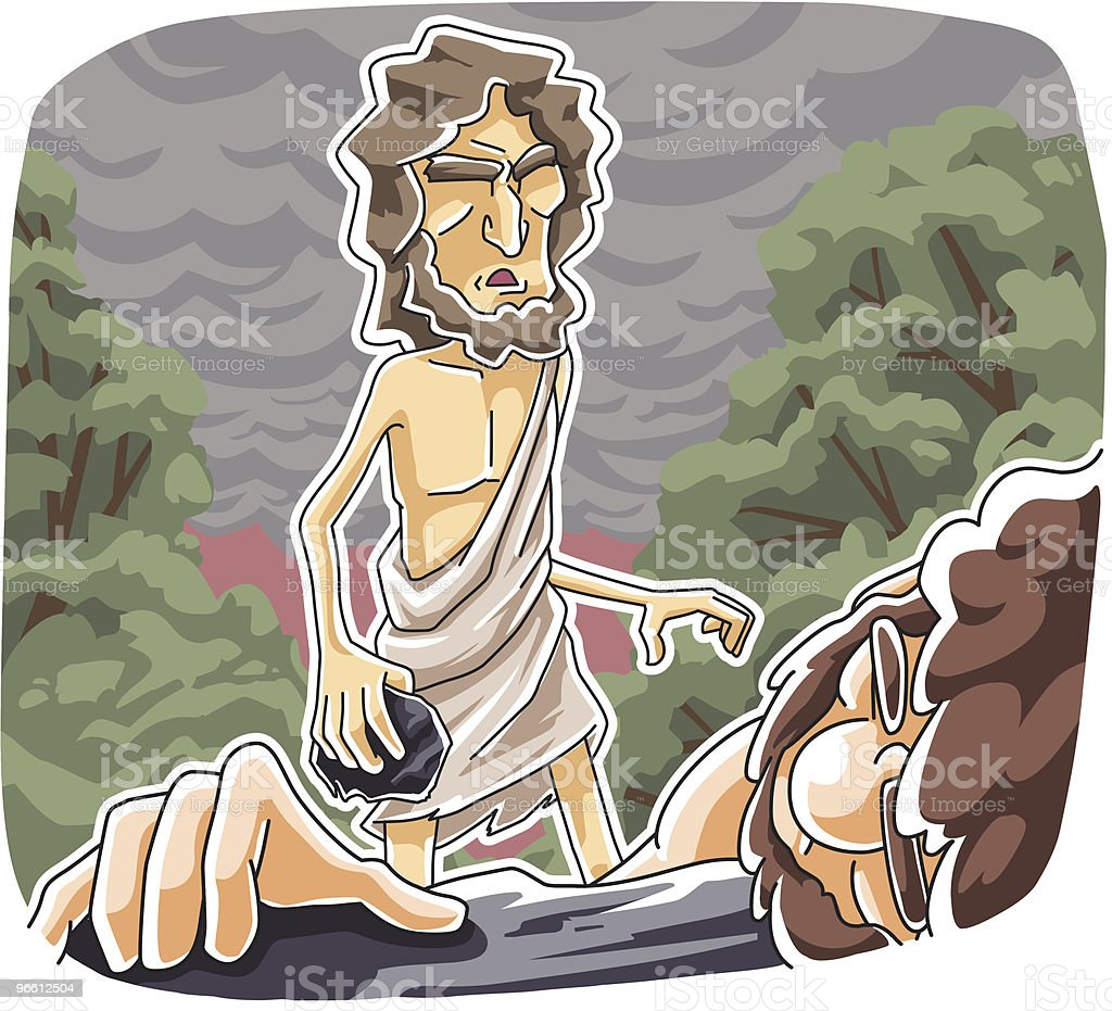 Cain murdered Abel - Royalty-free Adult stock vector