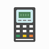 istock Calculator Icon Symbol Illustration in Flat and Modern Style available for your designs 1288007971