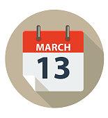 istock MARCH 13 Calendar Icon 513590304
