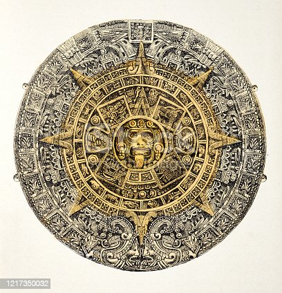 istock Calendar of the Aztecs 1217350032