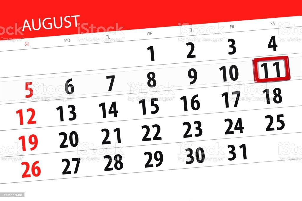 Calendrier Agenda Pour Le Mois Le Jour De La Date Limite De La