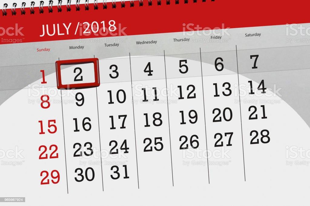 Resultado de imagem para imagem calendário 2 de julho