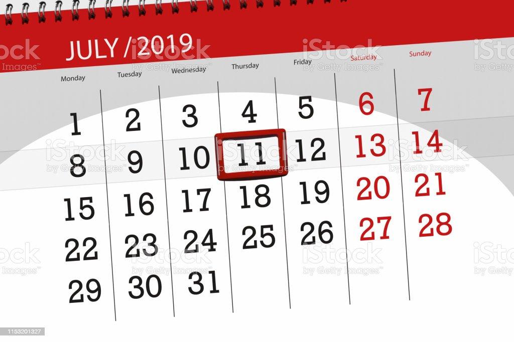 Calendrier Du Mois De Juillet 2019.Planificateur De Calendrier Pour Le Mois De Juillet 2019