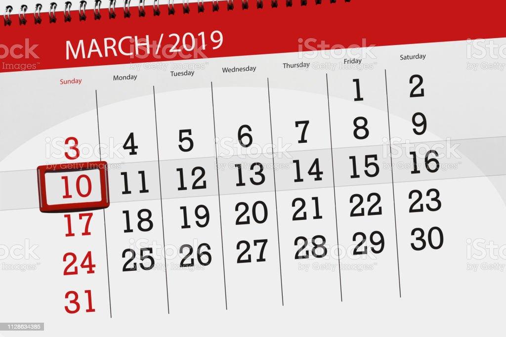Calendrier De Mars 2019.Calendrier Agenda Pour Le Mois De Mars 2019 Jour De