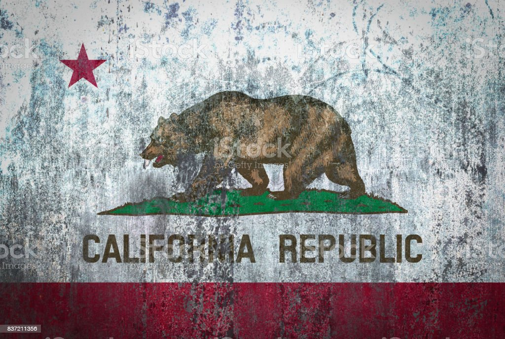 California Flag Painted On A Wall Royalty Free Stock