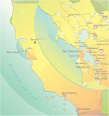 California map with San Francisco Bay Area inset