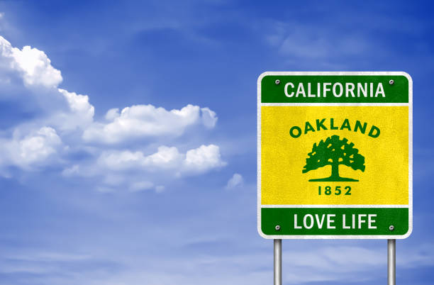 California - Oakland motto love life California - Oakland motto love life oakland stock illustrations