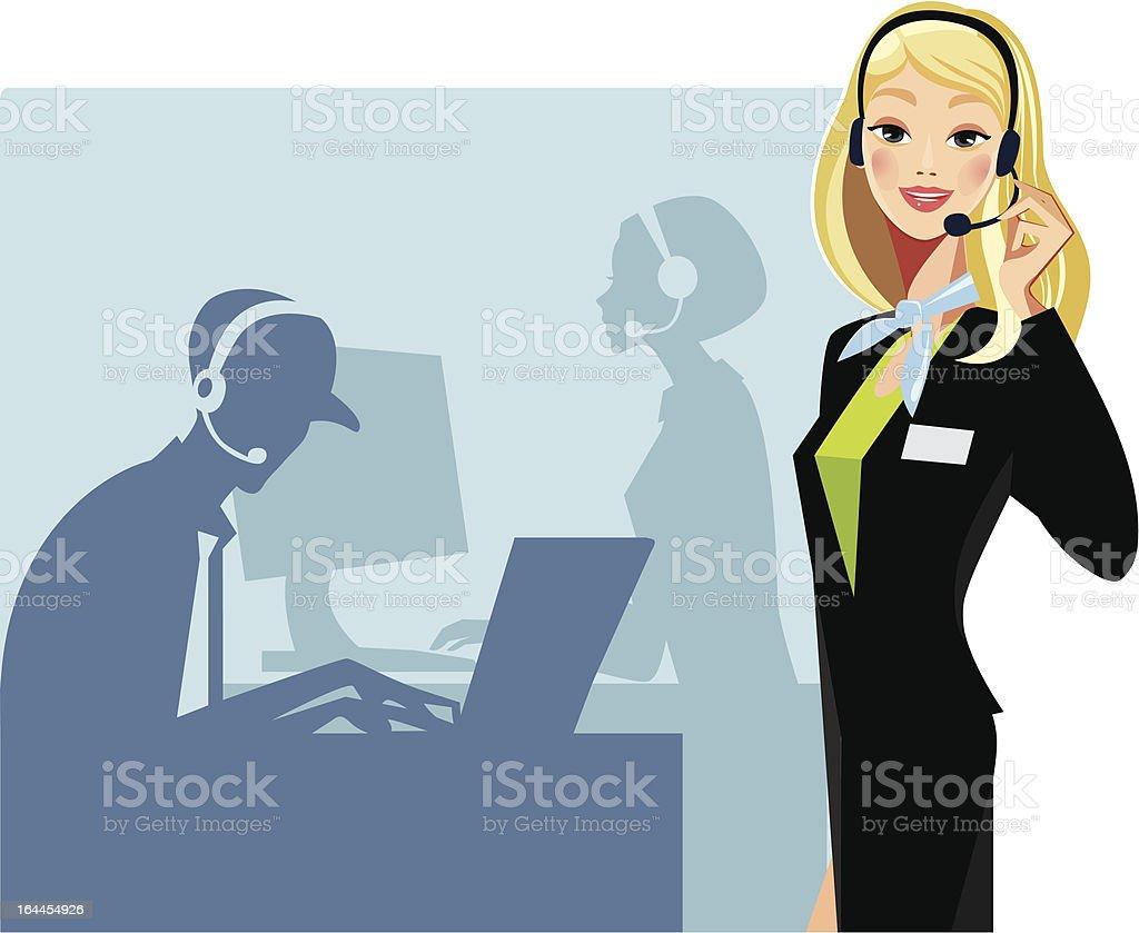 call center royalty-free stock vector art