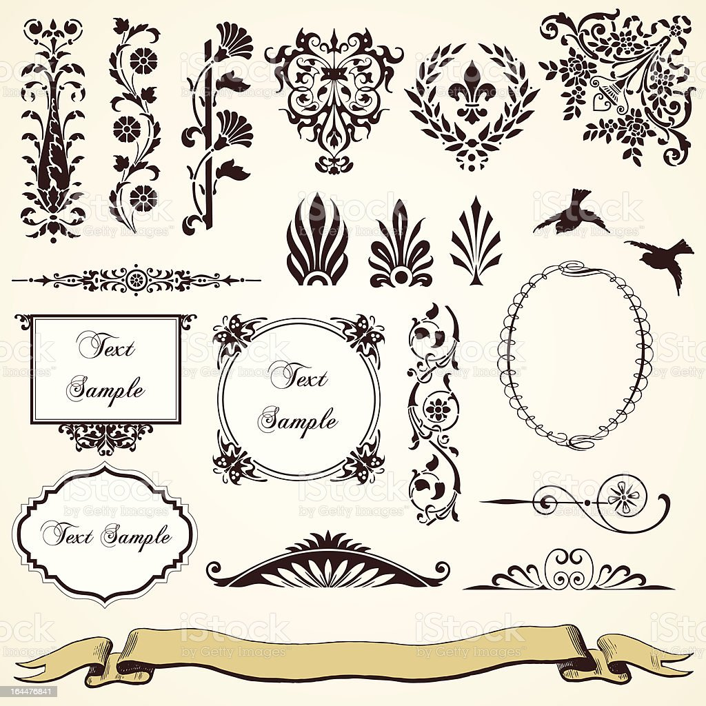 Calligraphic Design Elements And Decorations Stock Vector Art More