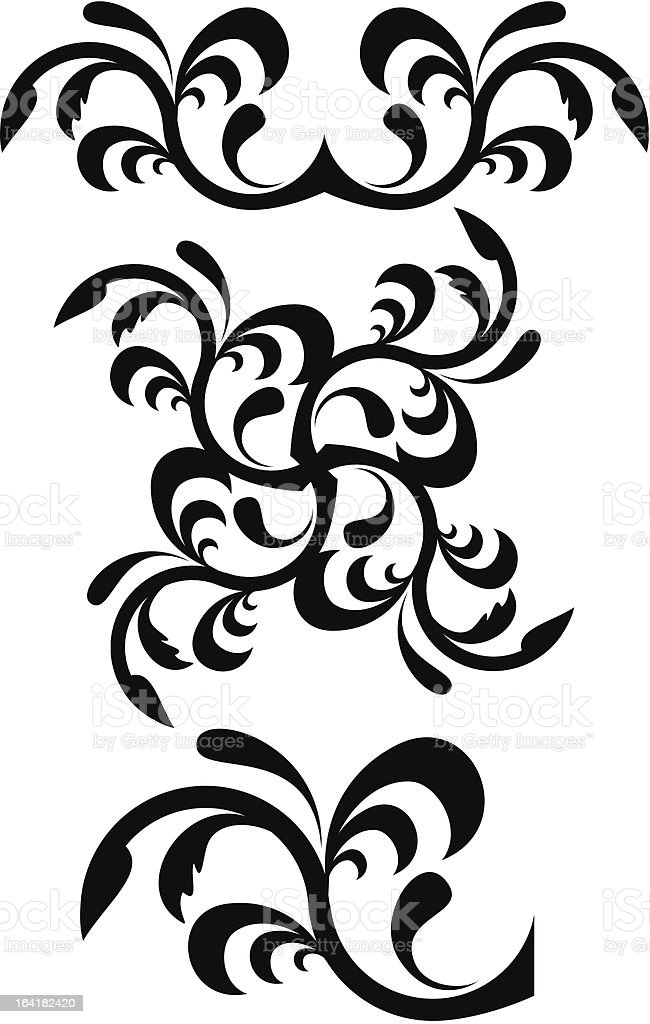 Calligraphical figures royalty-free calligraphical figures stock vector art & more images of angle