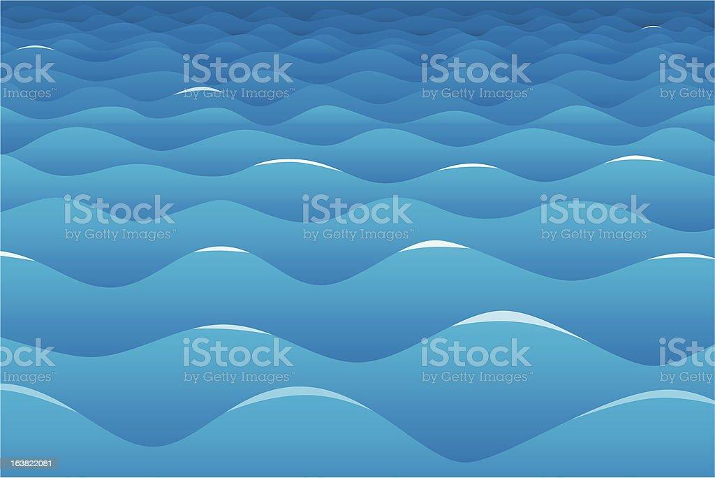 calm ocean background vector art illustration
