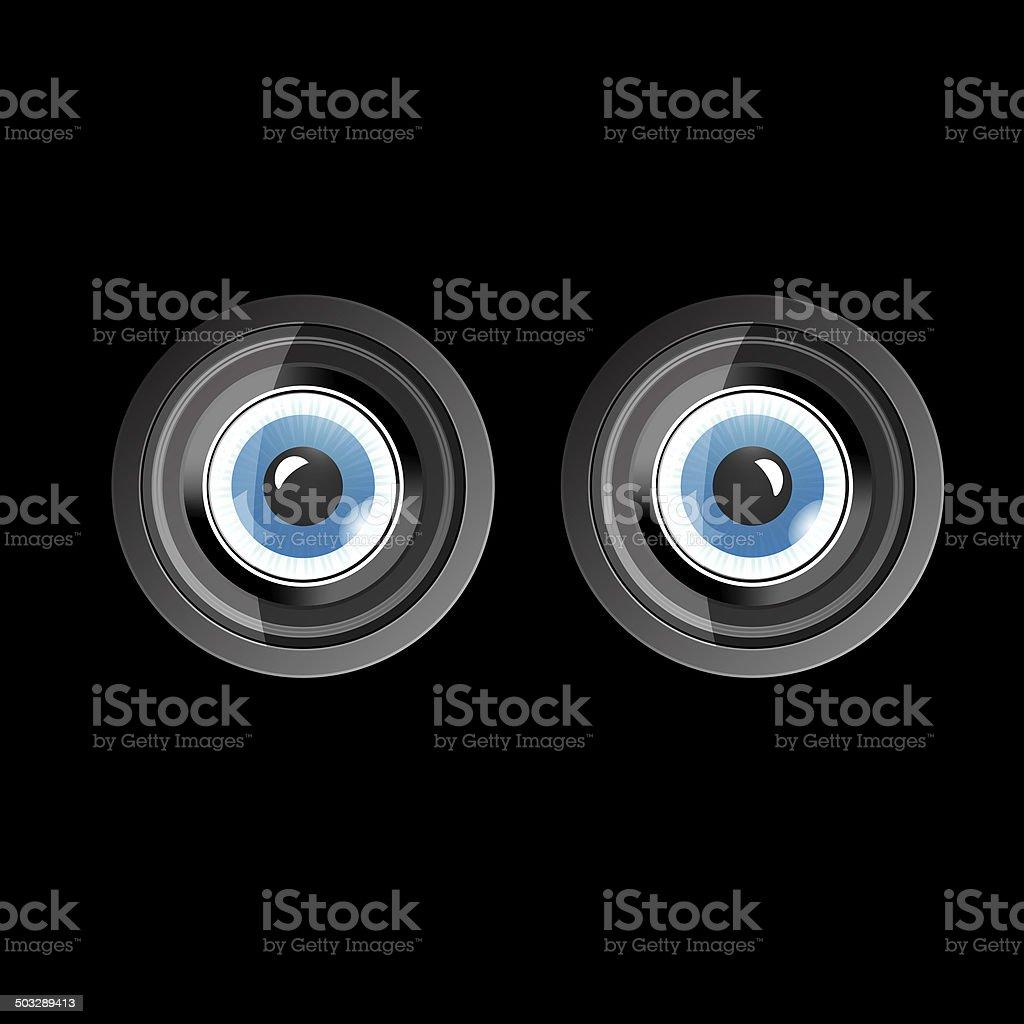 Camera eyes royalty-free stock vector art