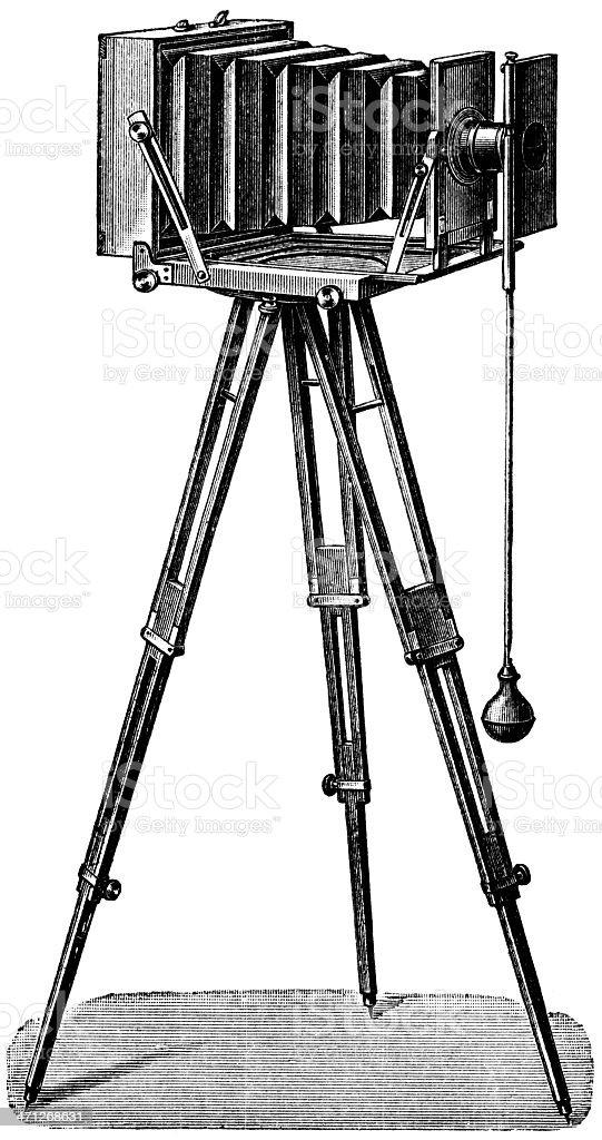 camera vector art illustration