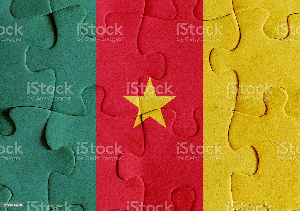 Cameroon flag puzzle cameroon flag puzzle – cliparts vectoriels et plus d'images de afrique libre de droits