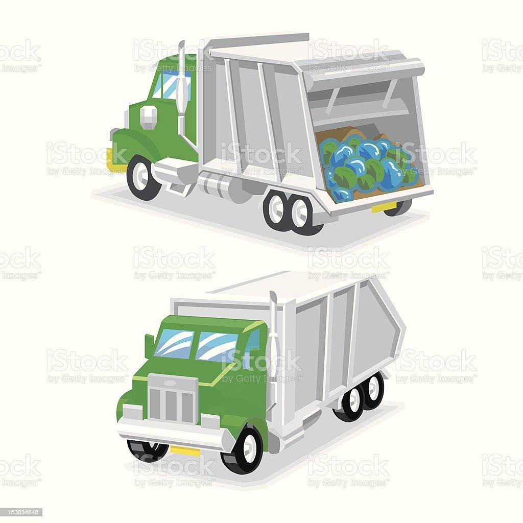 Camion de la Basura vector art illustration