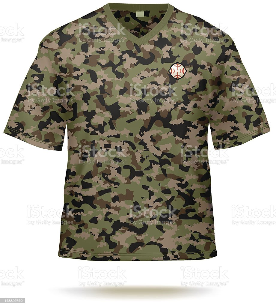 Camo T-shirt. vector art illustration