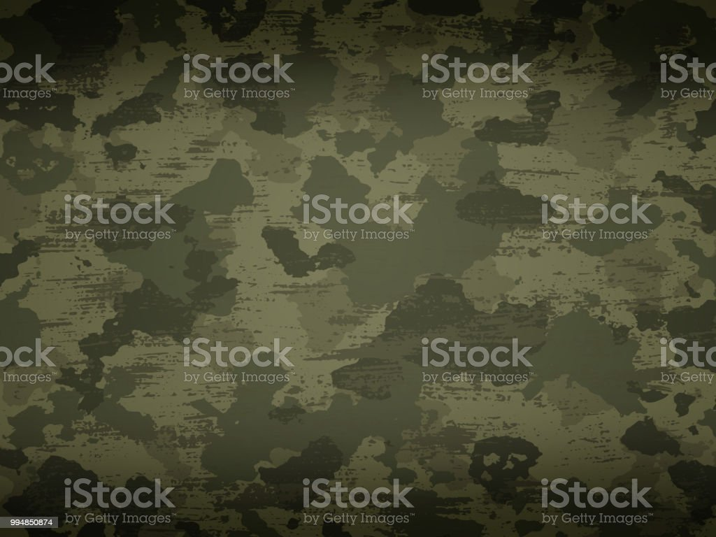 Camouflage military background vector art illustration
