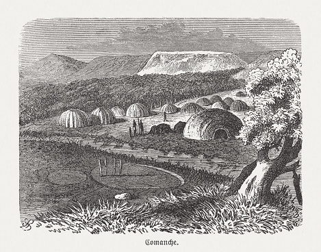 Camp of the Comanche, wood engraving, published in 1893
