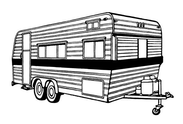 Camper Camper rv interior stock illustrations