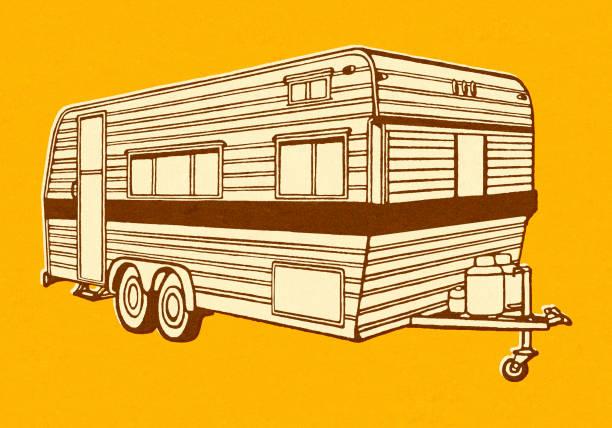Camper Trailer Camper Trailer rv interior stock illustrations