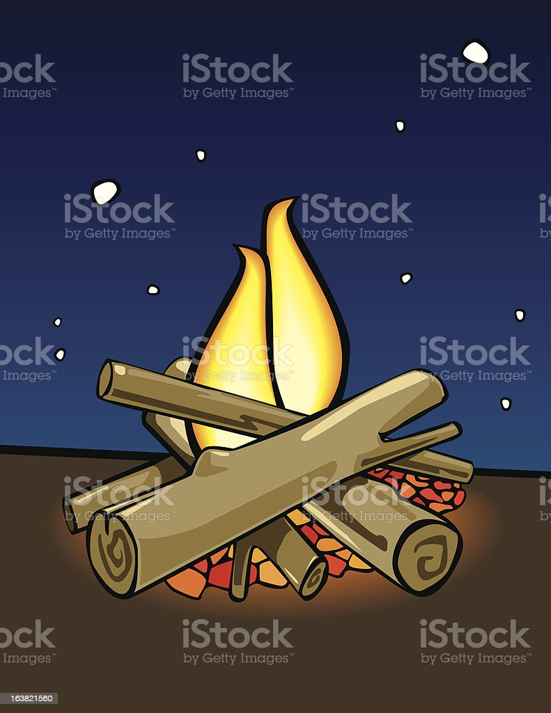 Campfire cartoon style royalty-free campfire cartoon style stock vector art & more images of burning