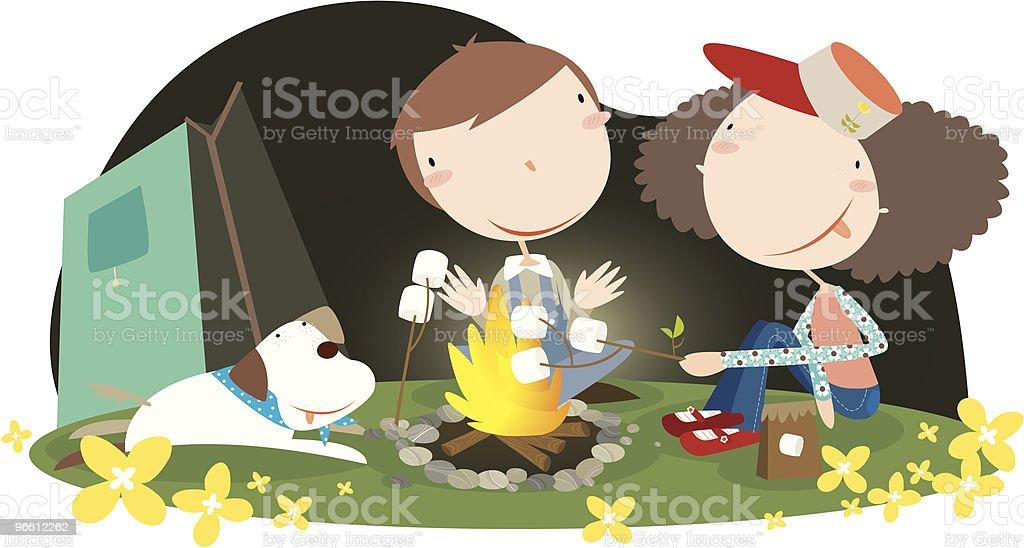 campfire - Royaltyfri Avkoppling vektorgrafik