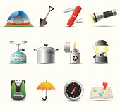 Elegant camping icon can beautify your designs & graphic
