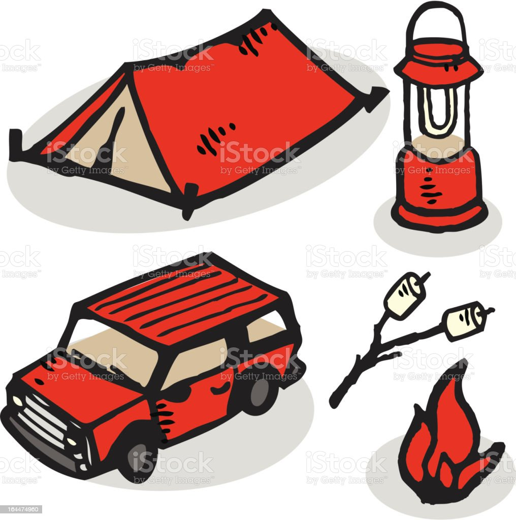 Camping royalty-free camping stock vector art & more images of 4x4