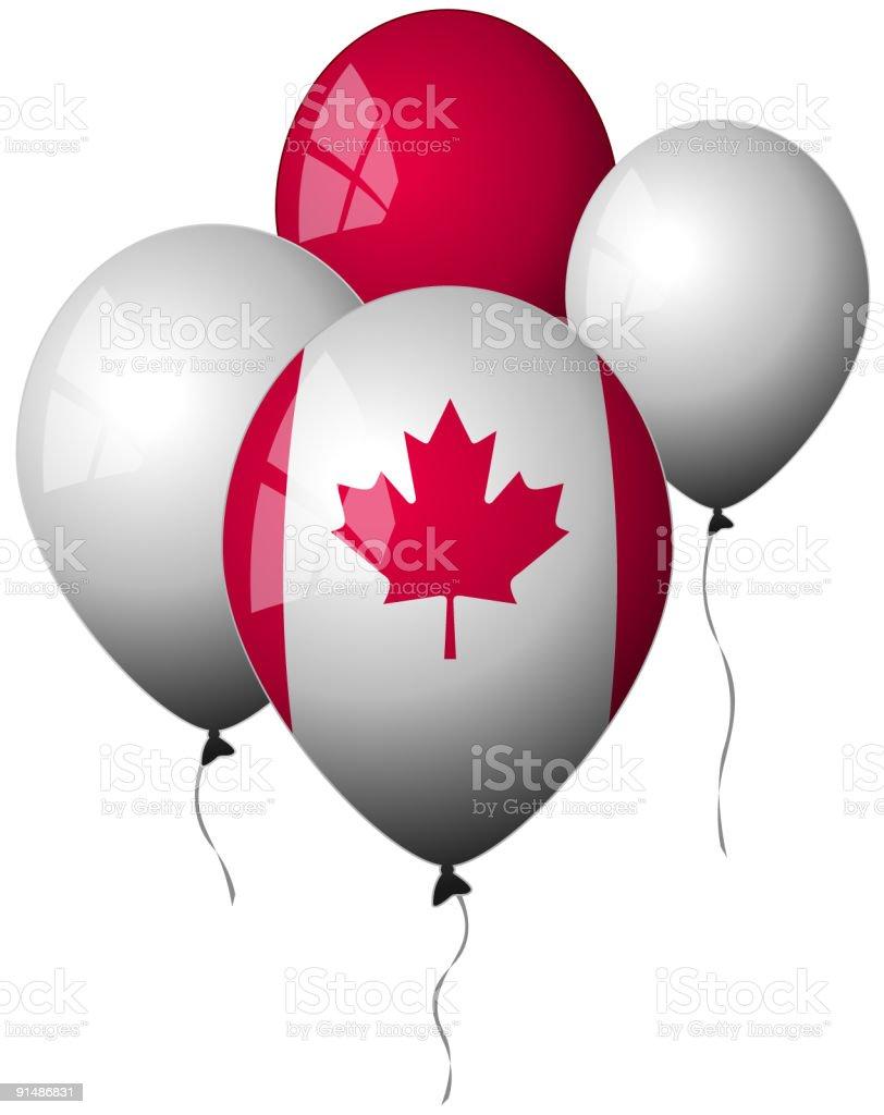 Canada - Balloons royalty-free stock vector art