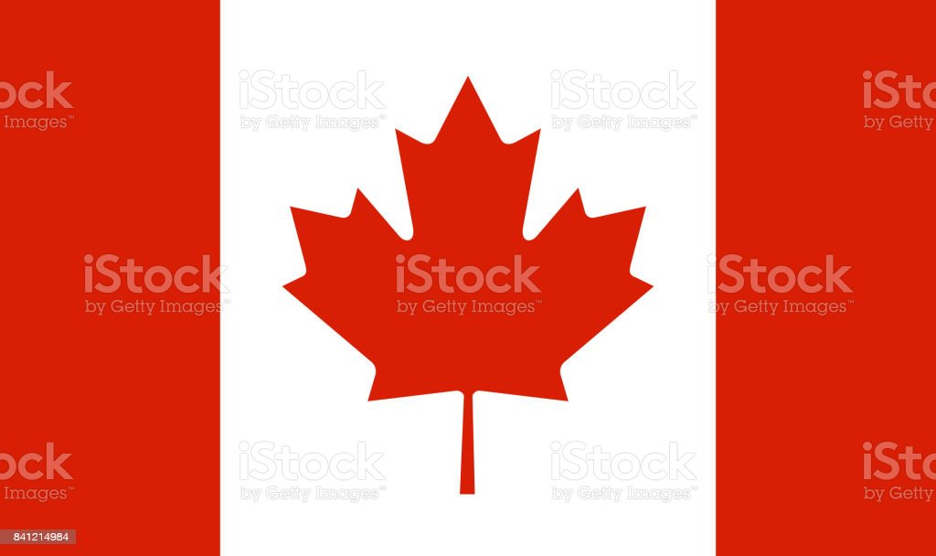 Canada flag vector art illustration