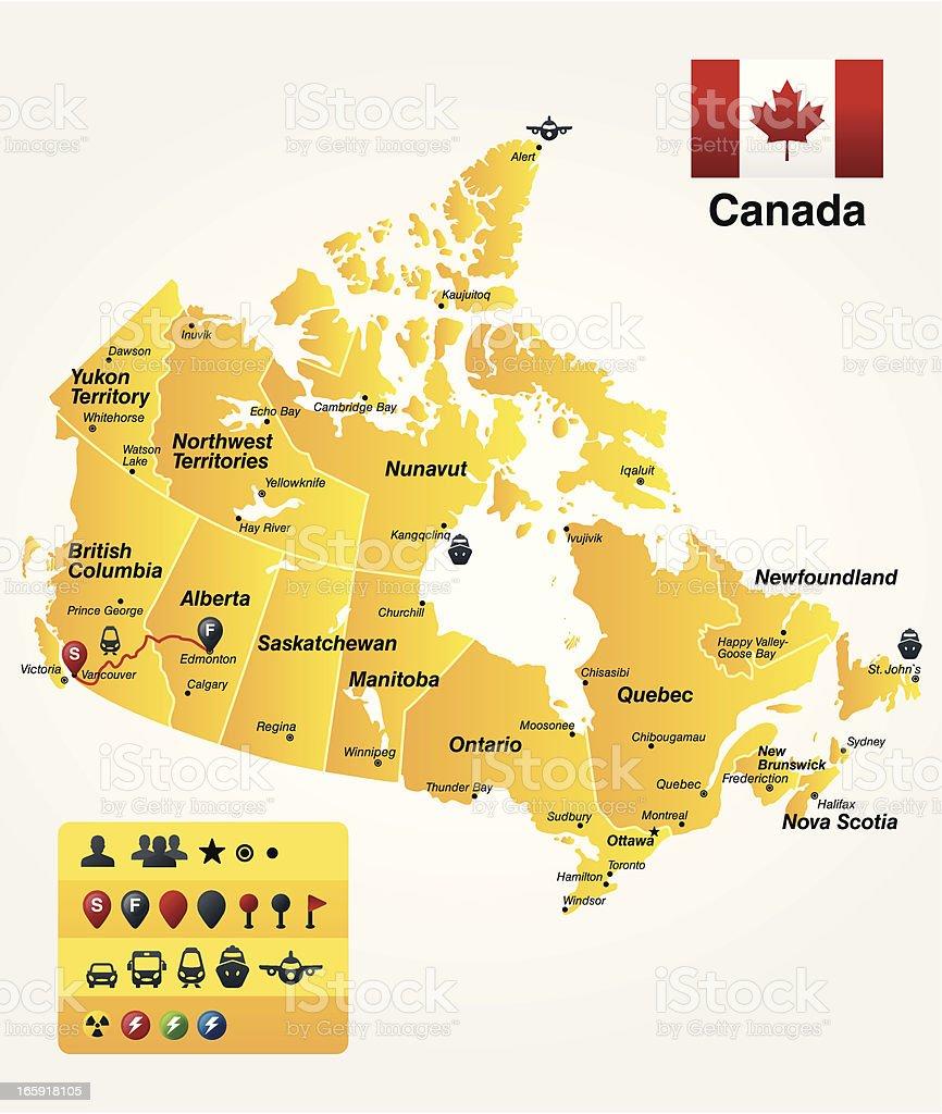 Canada vector art illustration