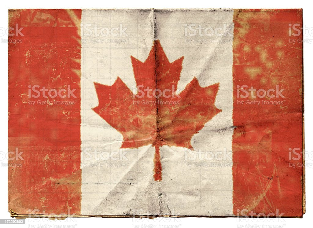 Canadian flag (XXL) royalty-free stock vector art