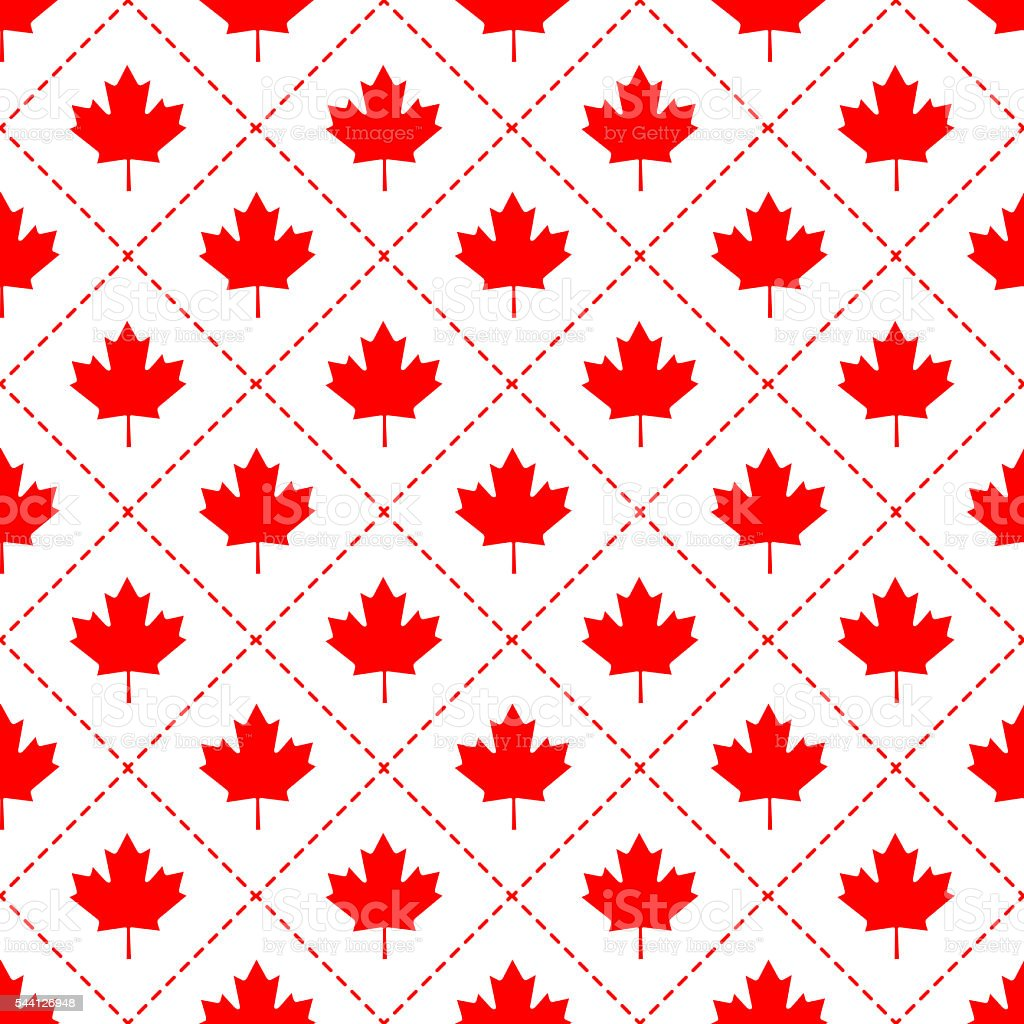 Canadian maple leaf symbol pattern vector art illustration