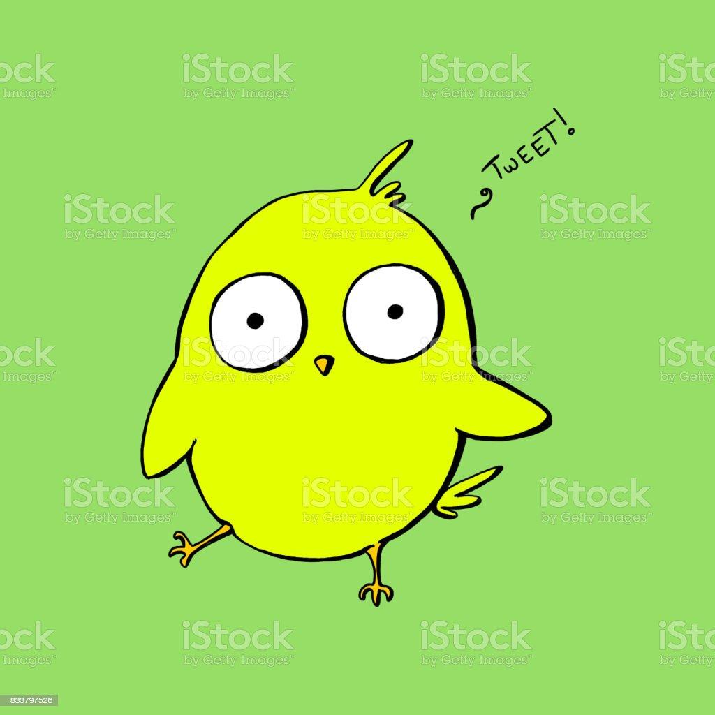 Canary vector art illustration