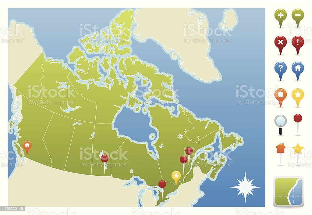 Canda GPS Map Icons royalty-free canda gps map icons stock vector art & more images of alberta