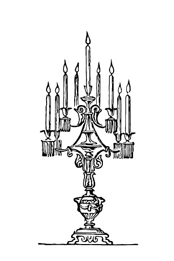 Illustration of a candelabrum (plural candelabrums, candelabra, candelabras), sometimes called a candle tree, is a candle holder with multiple arms