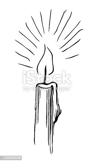 Illustration of a Candle