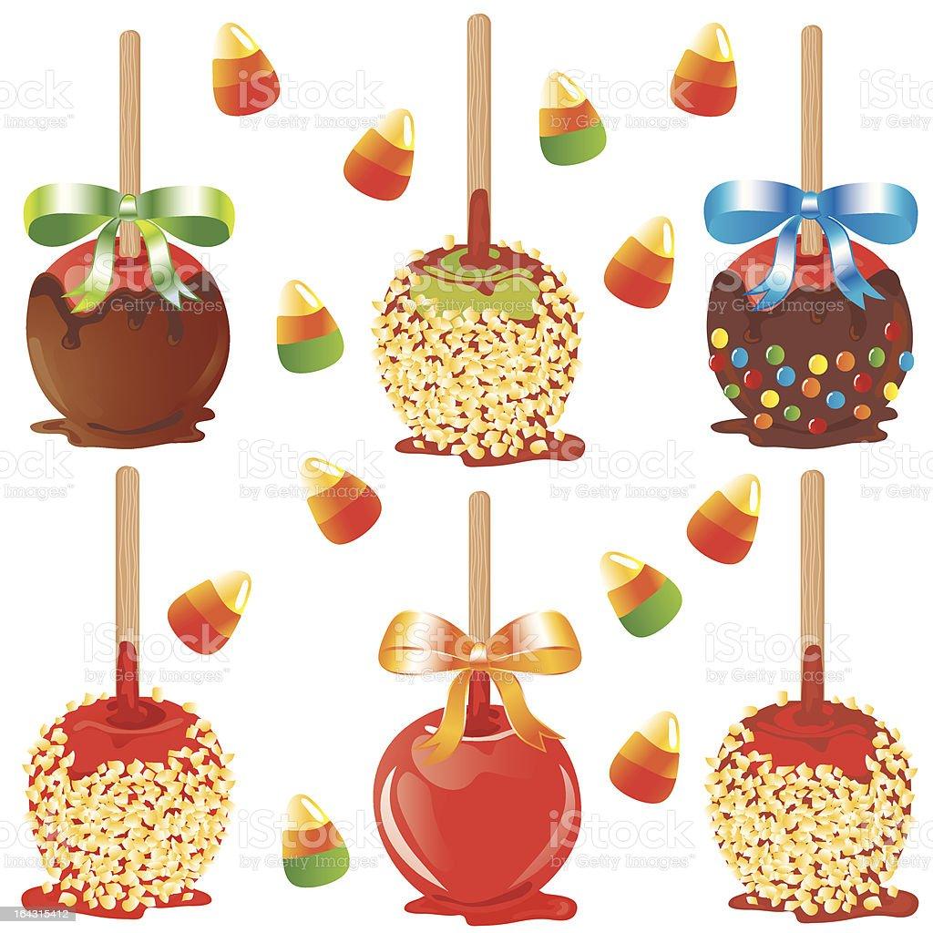 Candy Apple Treats vector art illustration